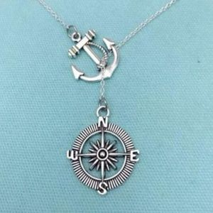 Jewelry - 4/$25 Vintage Look Anchor Compass  Lariat Necklace